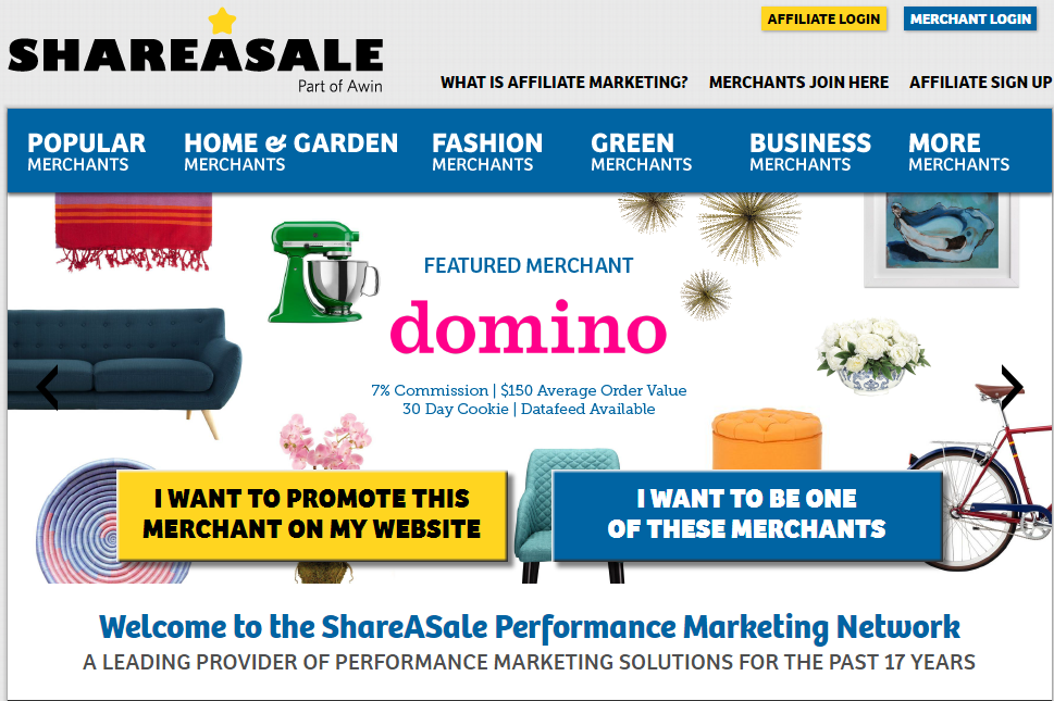 ShareASale (Pay Per Sale) High Paying Best Affiliate Programs for Bloggers