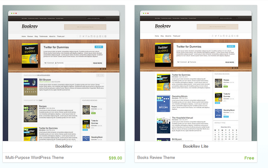 BookRev BookRev Lite ThemeIsle Review Choose the Absolute Themes for Your Blog