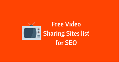Free Video Sharing Sites list